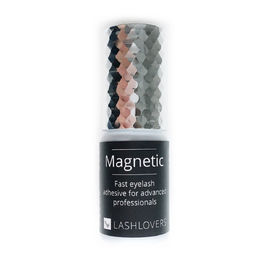 Magnetic eyelash extension adhesive