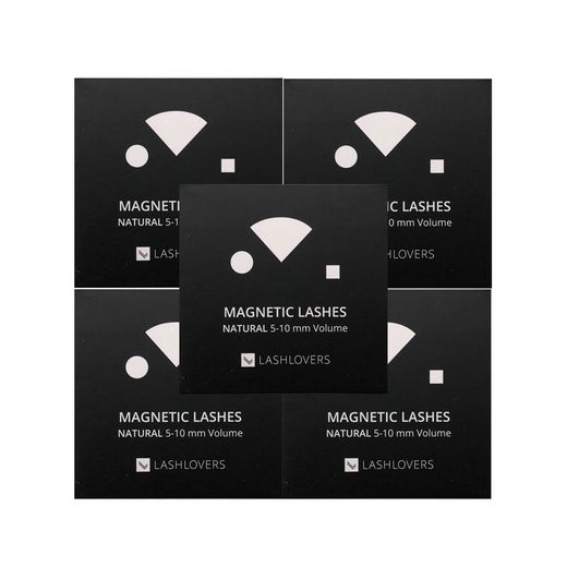 Magnetic Lashes, Refill 5 cases, Natural 5-10 mm Volume